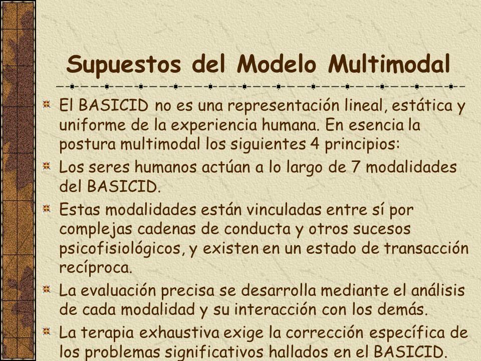 Supuestos del Modelo Multimodal