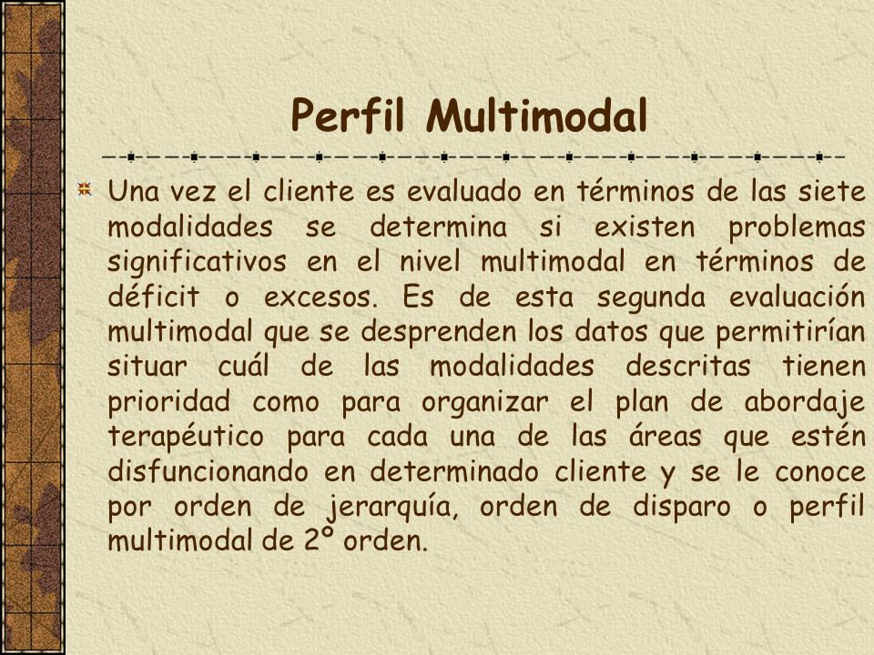 Perfil Multimodal