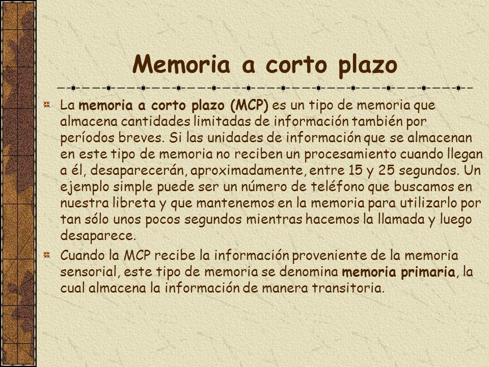 Memoria a corto plazo