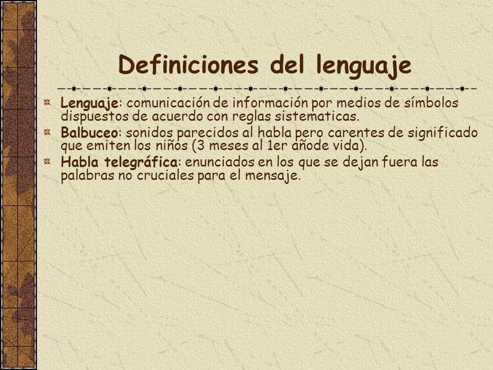 Definiciones del lenguaje