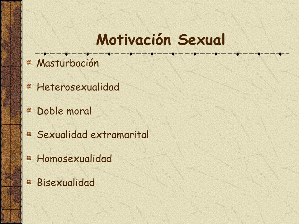 Motivación Sexual Masturbación Heterosexualidad Doble moral