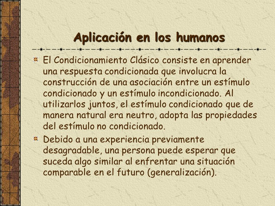 Aplicación en los humanos