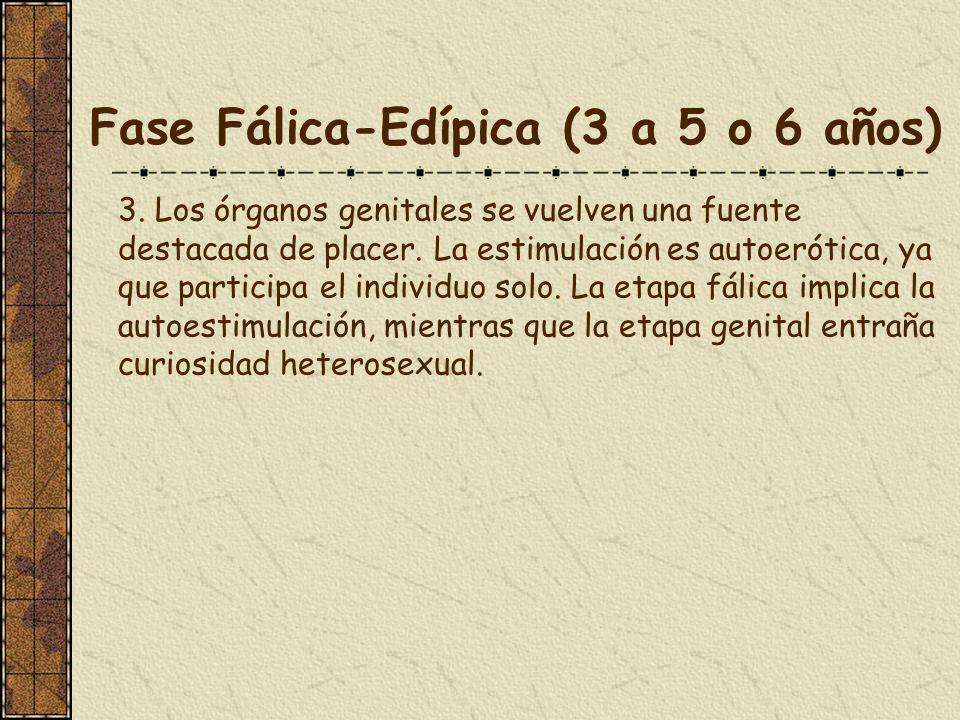 Fase Fálica-Edípica (3 a 5 o 6 años)