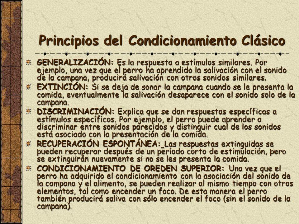 Principios del Condicionamiento Clásico