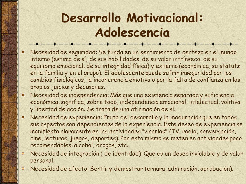Desarrollo Motivacional: Adolescencia