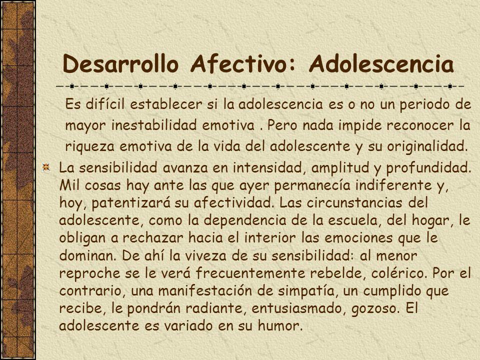 Desarrollo Afectivo: Adolescencia