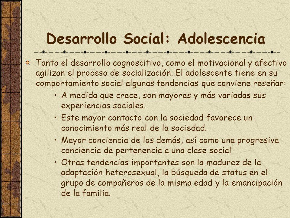 Desarrollo Social: Adolescencia