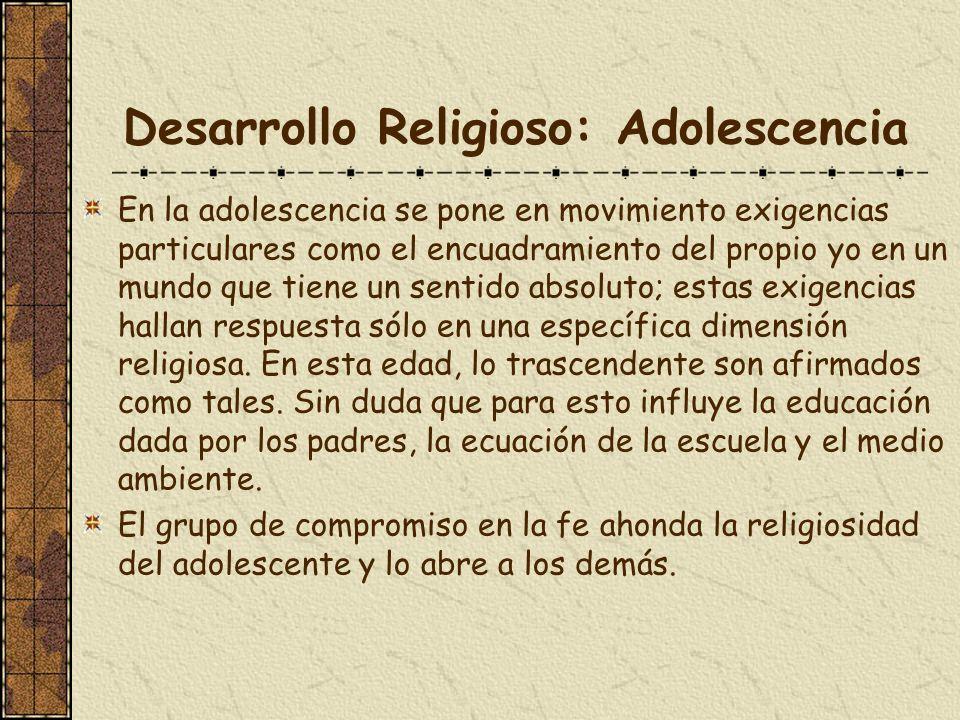 Desarrollo Religioso: Adolescencia