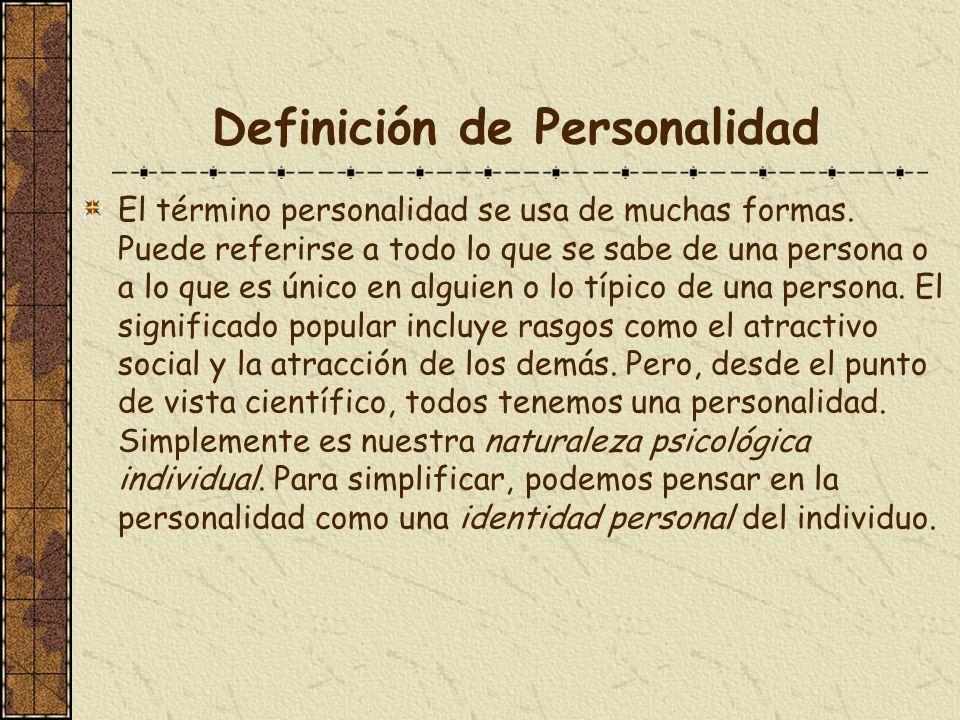 Definición de Personalidad