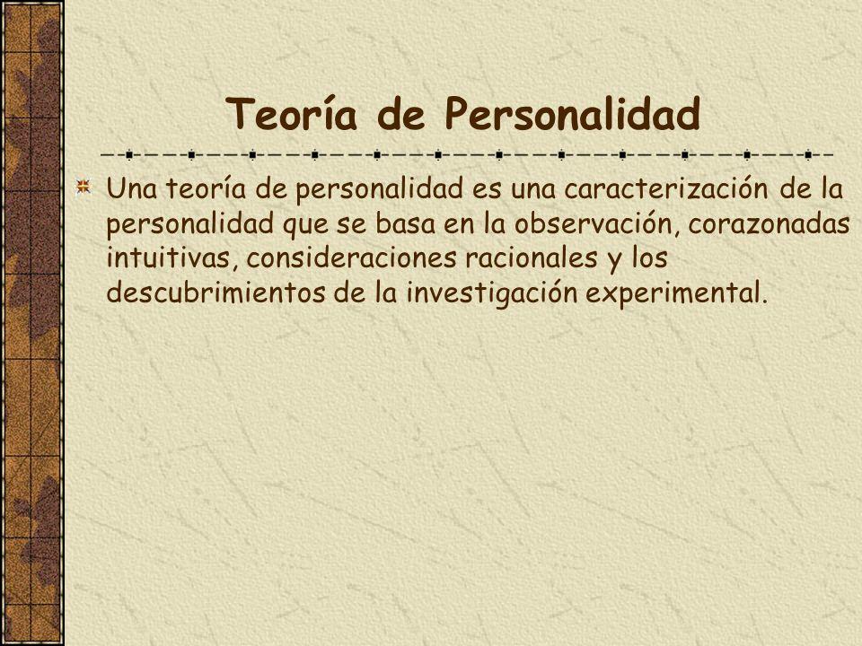 Teoría de Personalidad
