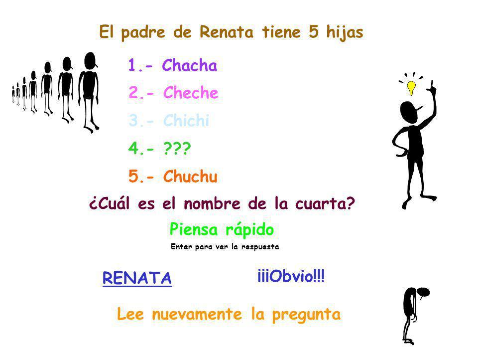 El padre de Renata tiene 5 hijas