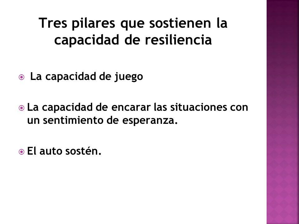 Tres pilares que sostienen la capacidad de resiliencia