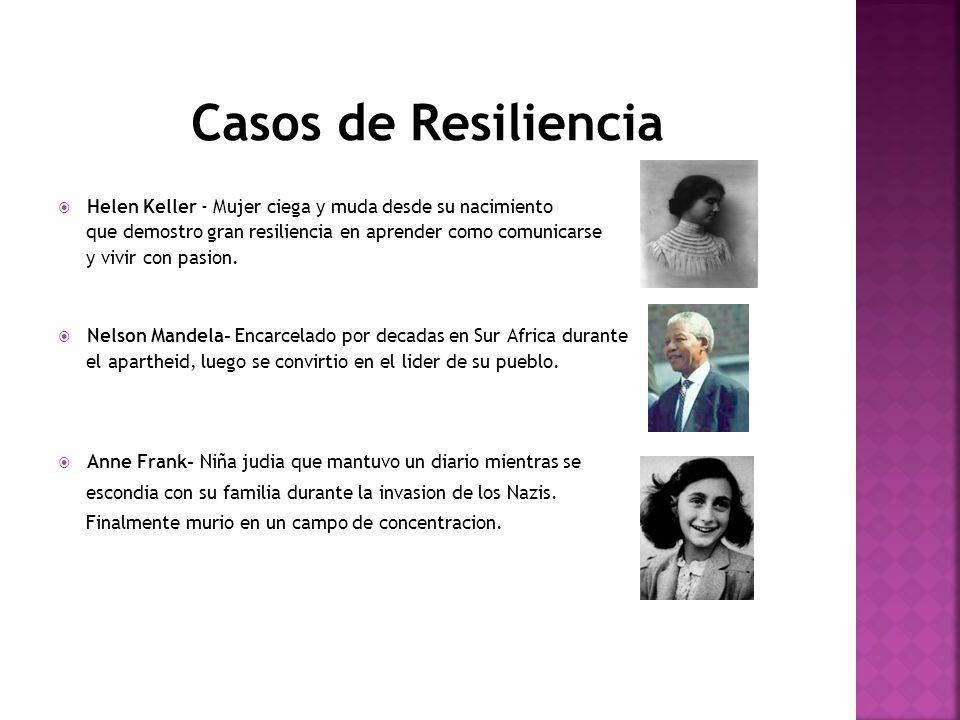 Casos de Resiliencia Helen Keller - Mujer ciega y muda desde su nacimiento. que demostro gran resiliencia en aprender como comunicarse.