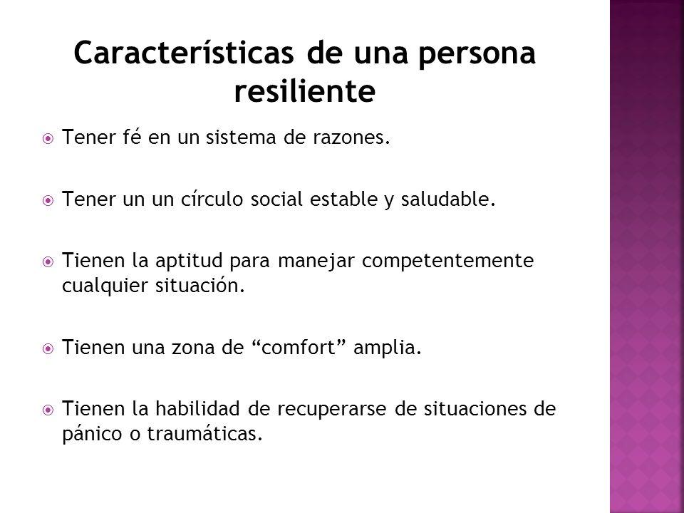 Características de una persona resiliente