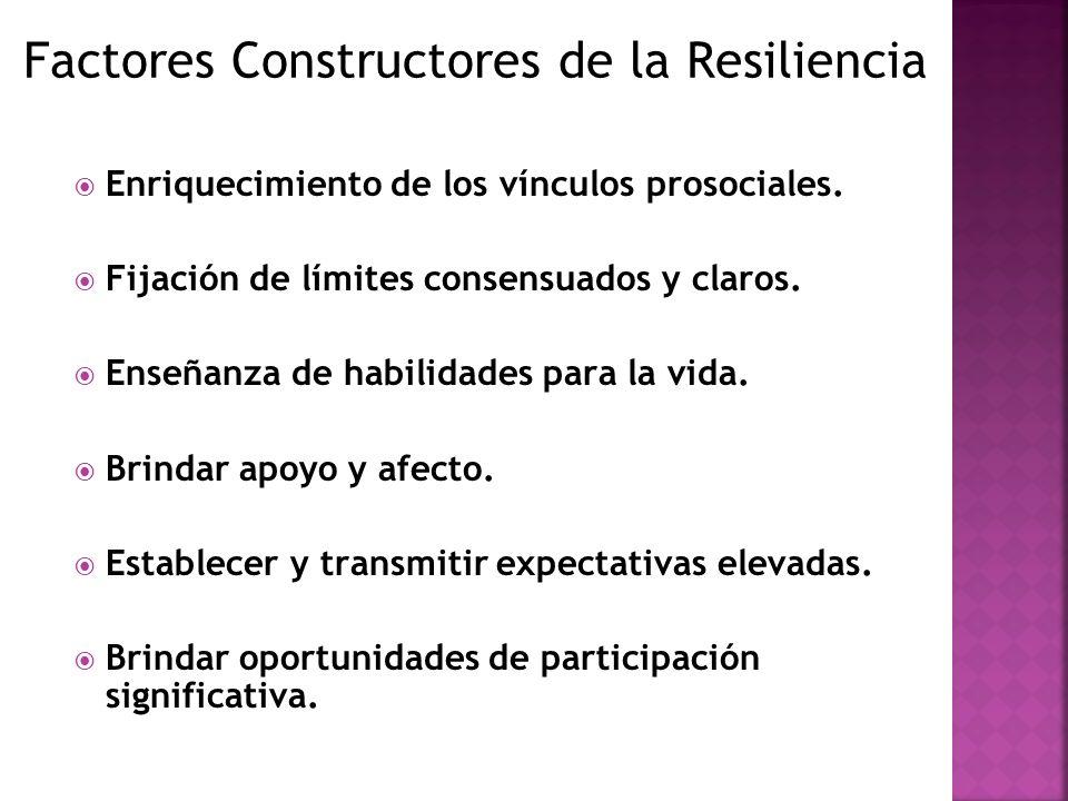 Factores Constructores de la Resiliencia