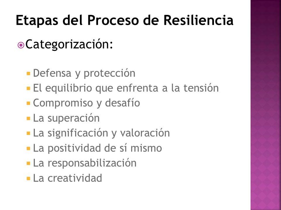 Etapas del Proceso de Resiliencia