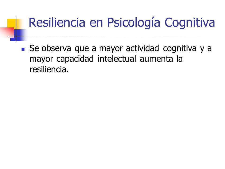 Resiliencia en Psicología Cognitiva