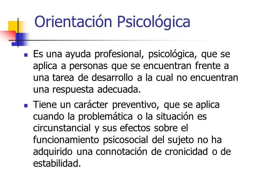 Orientación Psicológica