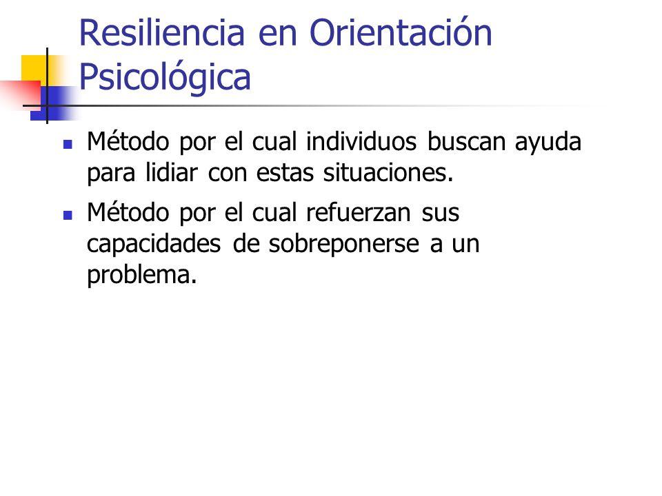 Resiliencia en Orientación Psicológica