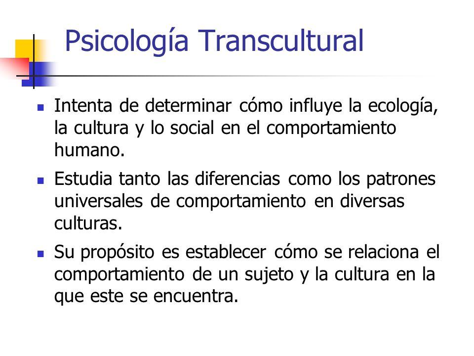 Psicología Transcultural
