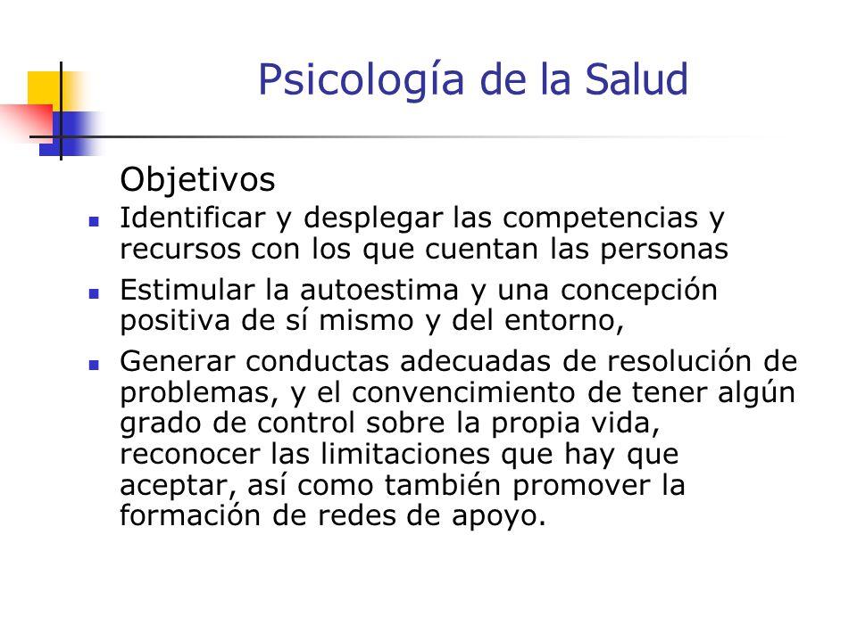 Psicología de la Salud Objetivos