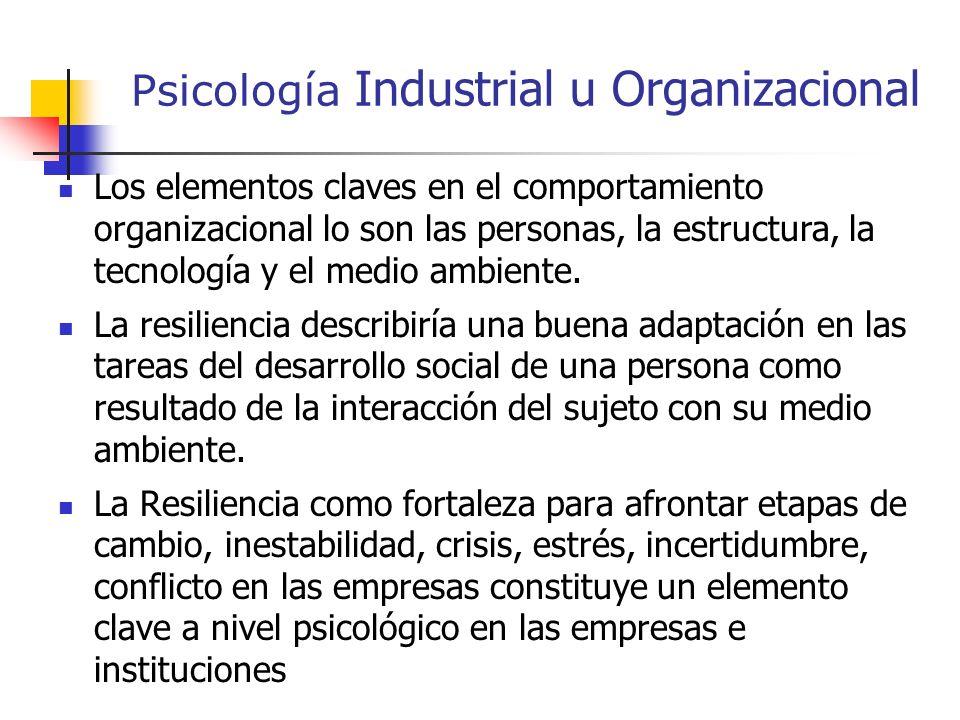 Psicología Industrial u Organizacional