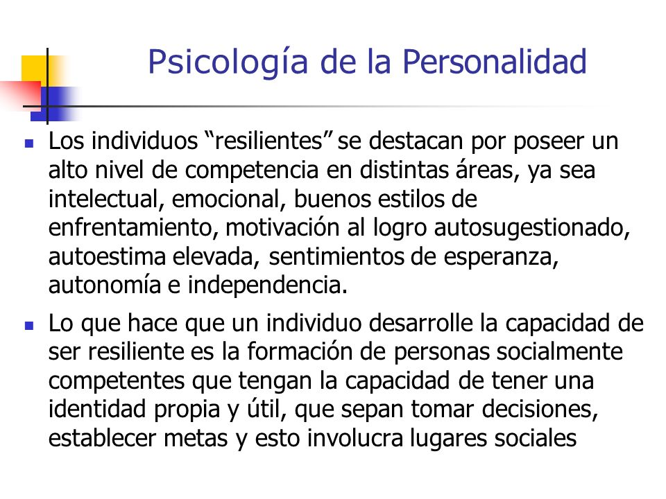 Psicología de la Personalidad