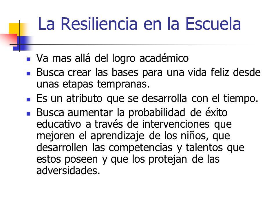 La Resiliencia en la Escuela
