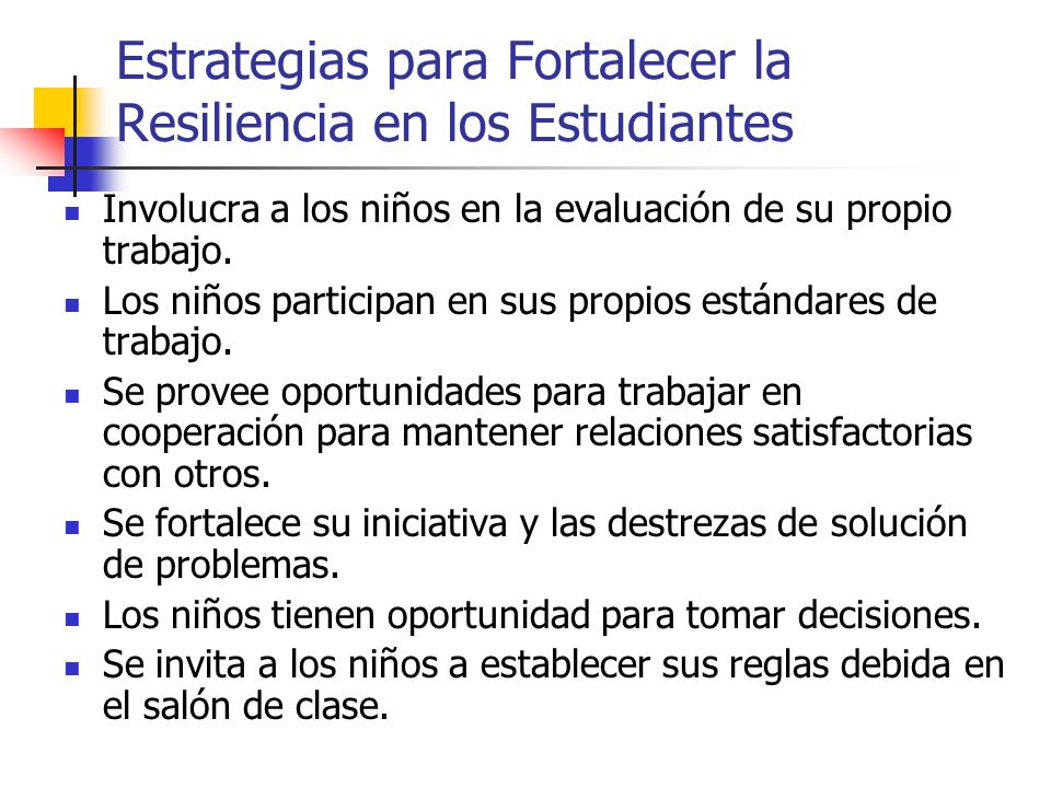 Estrategias para Fortalecer la Resiliencia en los Estudiantes