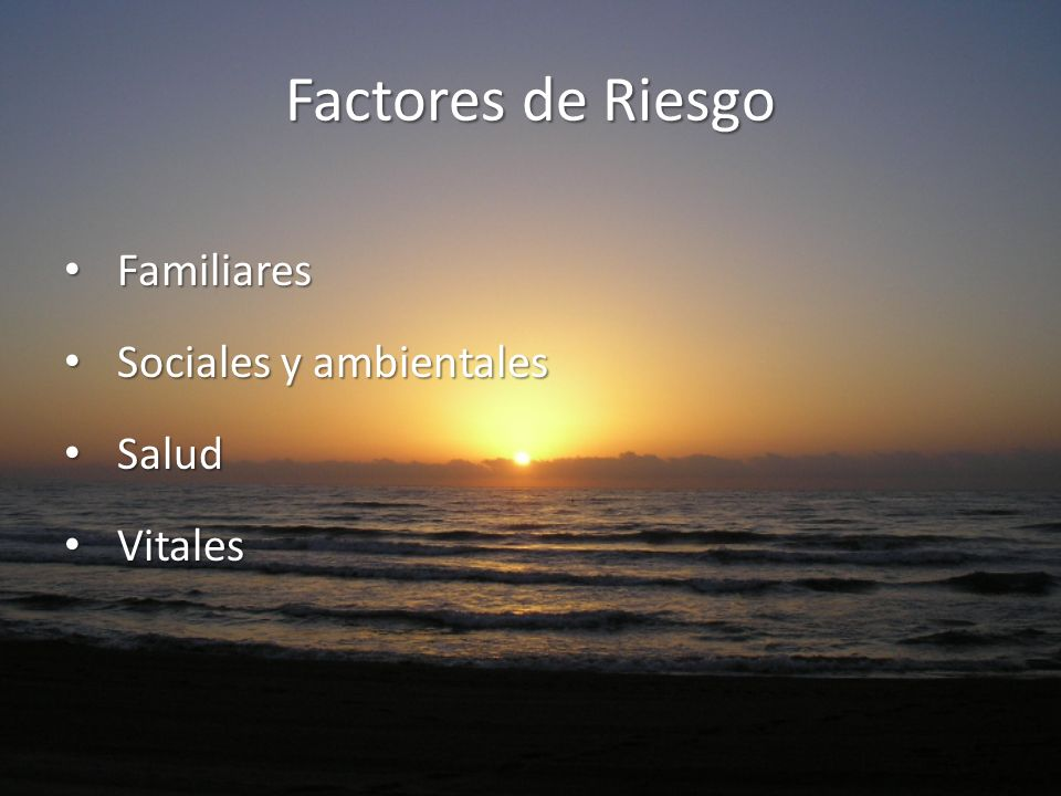 Factores de Riesgo Familiares Sociales y ambientales Salud Vitales