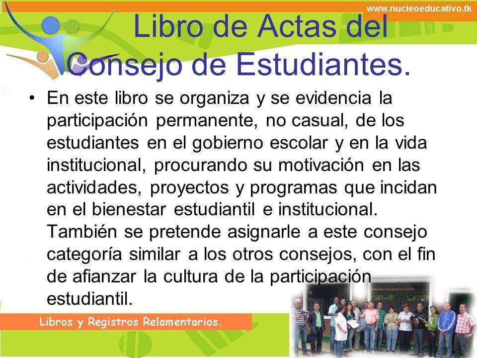 Libro de Actas del Consejo de Estudiantes.