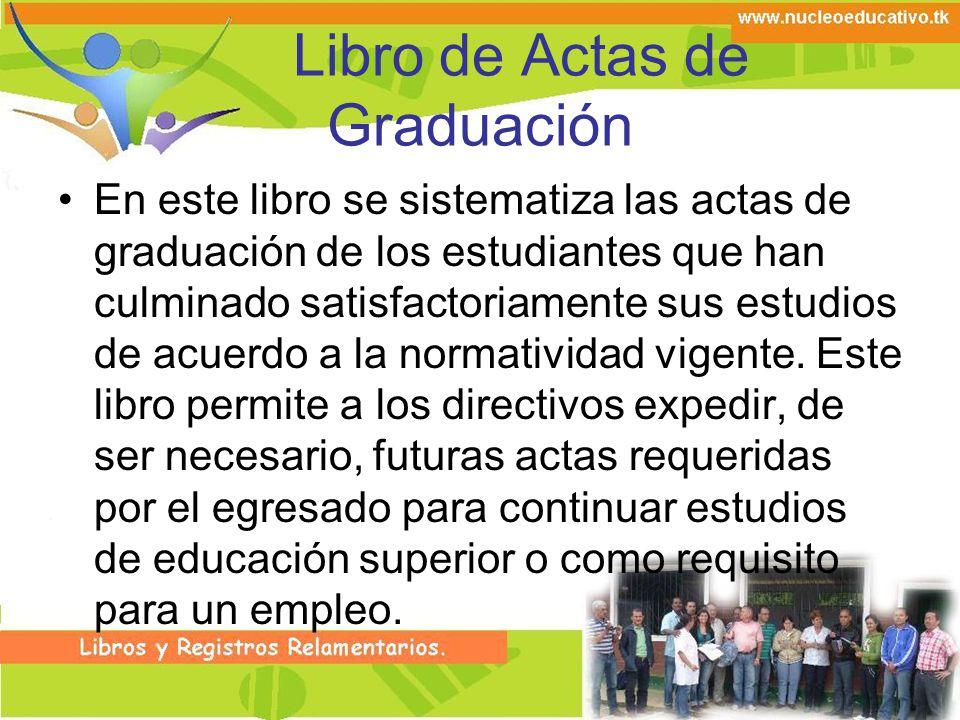 Libro de Actas de Graduación