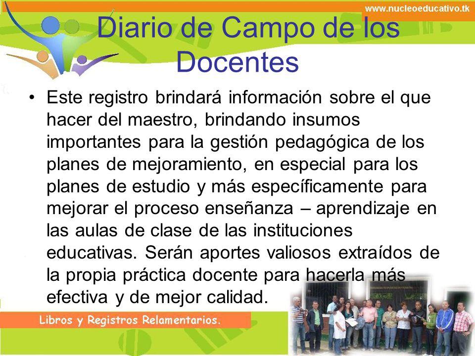 Diario de Campo de los Docentes