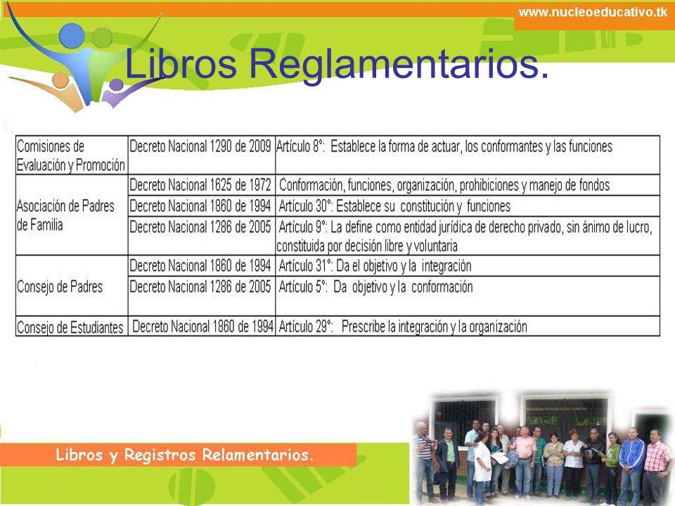 Libros Reglamentarios.