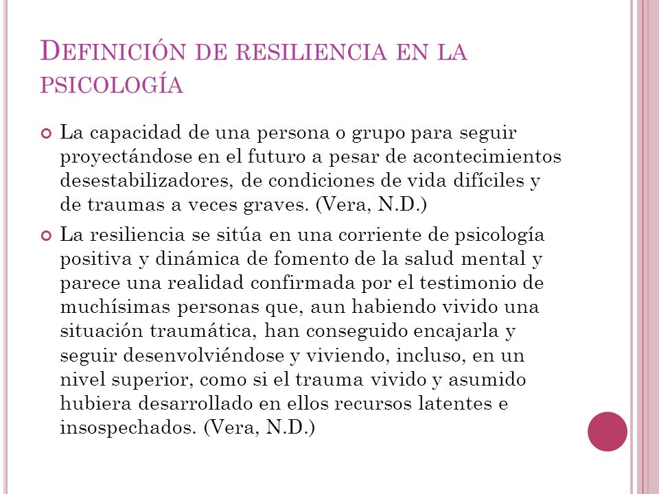 Definición de resiliencia en la psicología