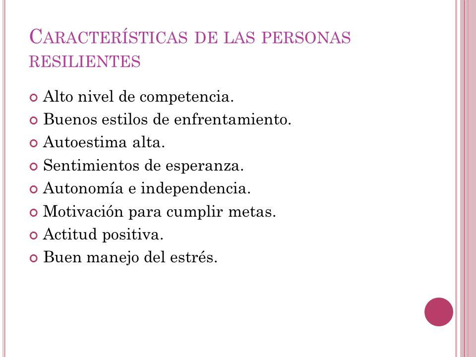 Características de las personas resilientes