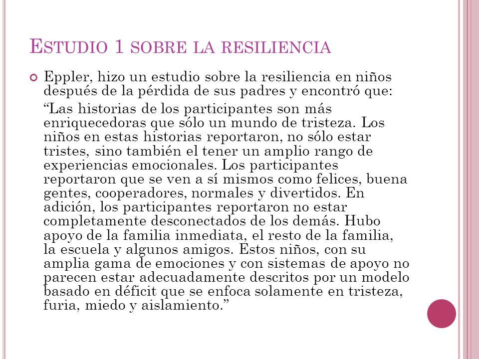 Estudio 1 sobre la resiliencia