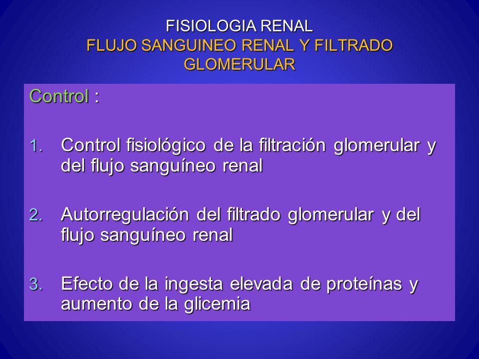 FISIOLOGIA RENAL FLUJO SANGUINEO RENAL Y FILTRADO GLOMERULAR