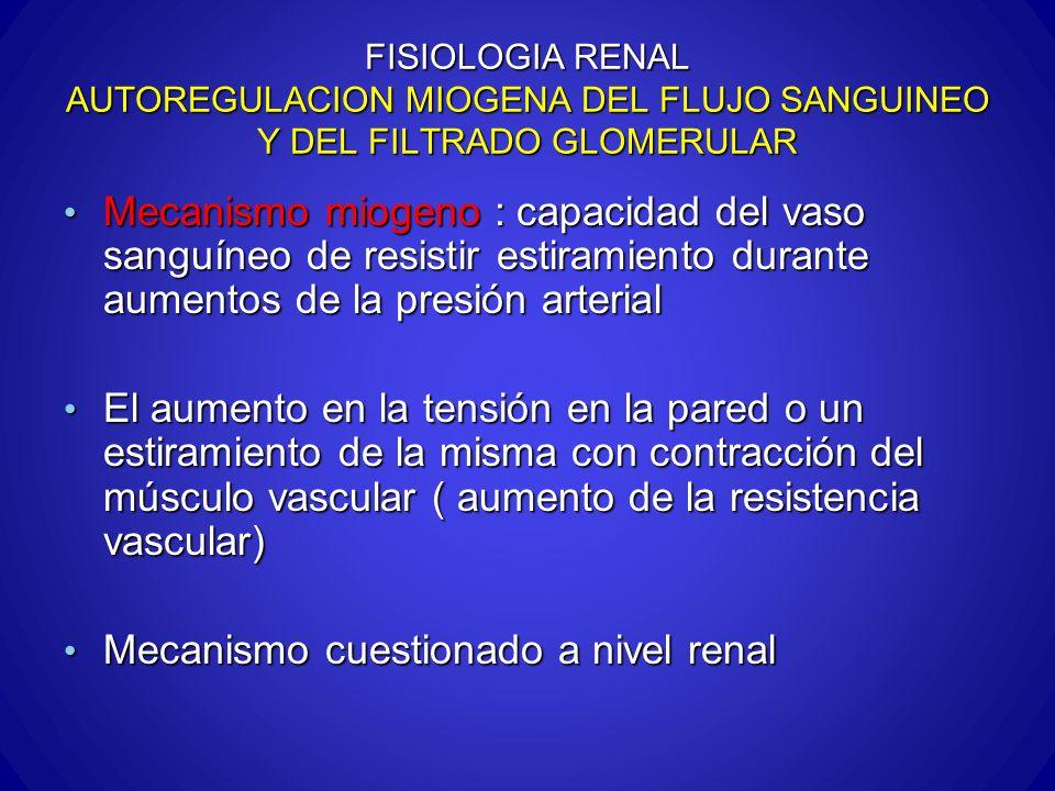 Mecanismo cuestionado a nivel renal