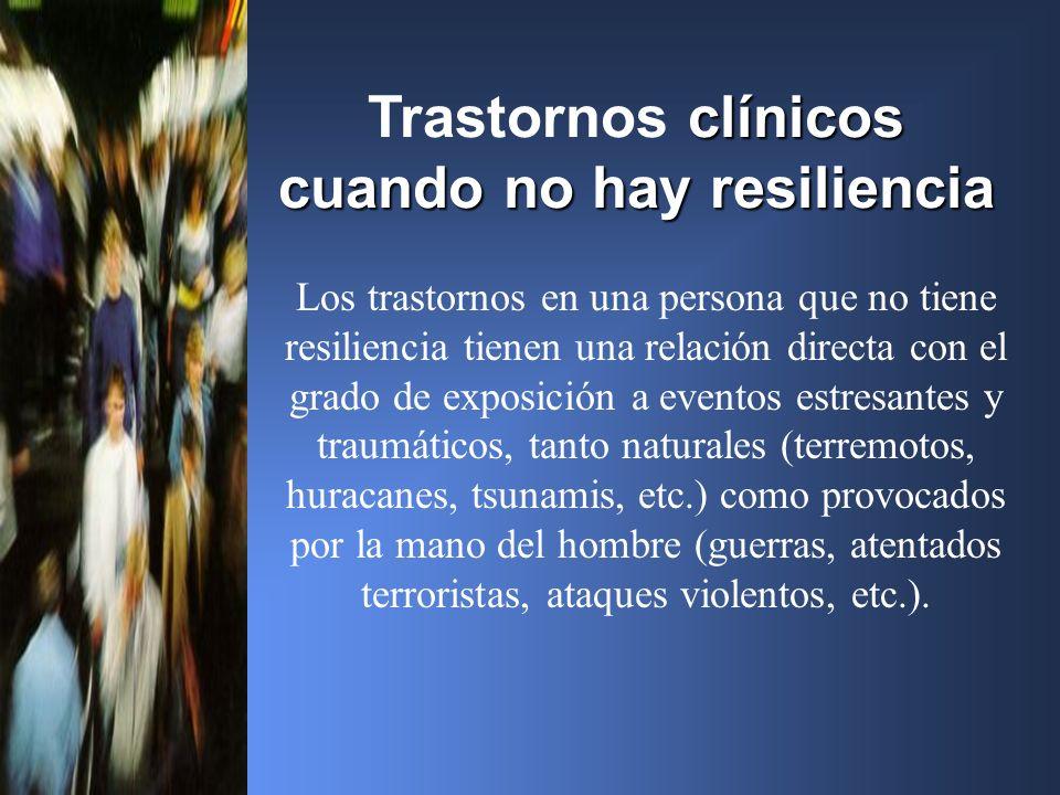 Trastornos clínicos cuando no hay resiliencia