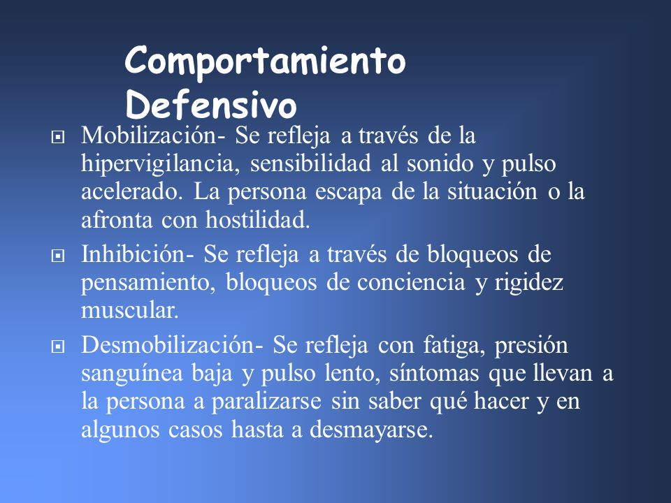 Comportamiento Defensivo