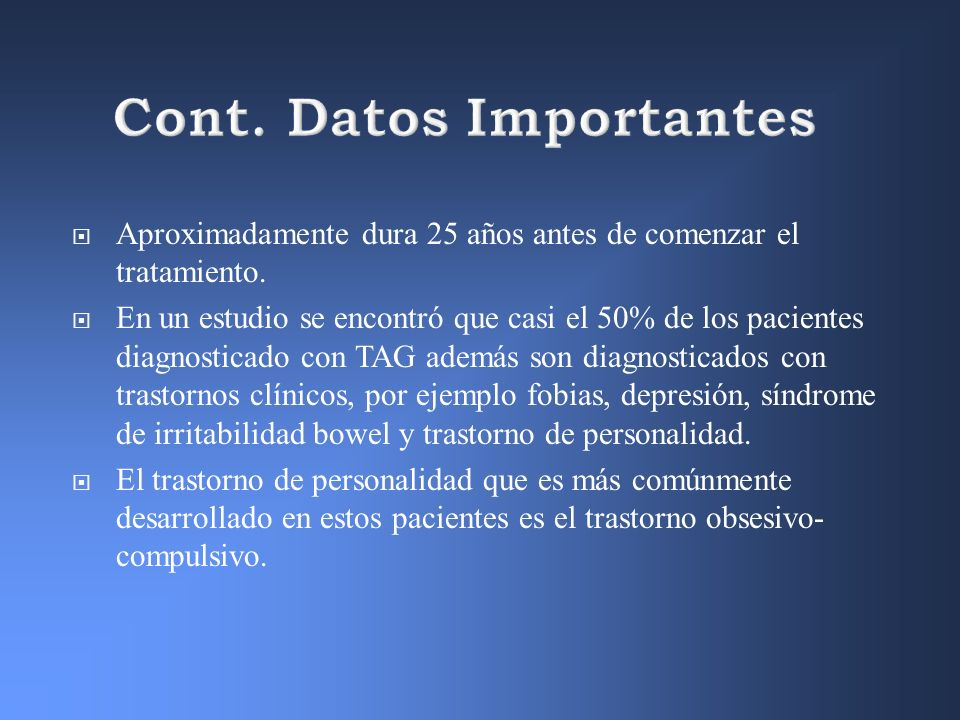 Cont. Datos Importantes