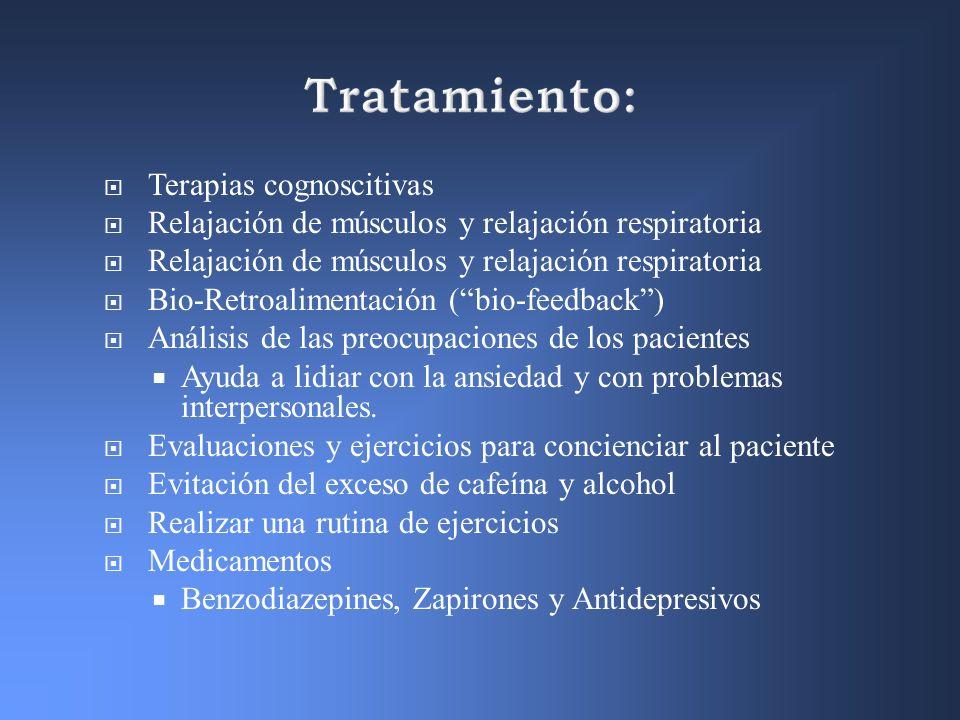 Tratamiento: Terapias cognoscitivas