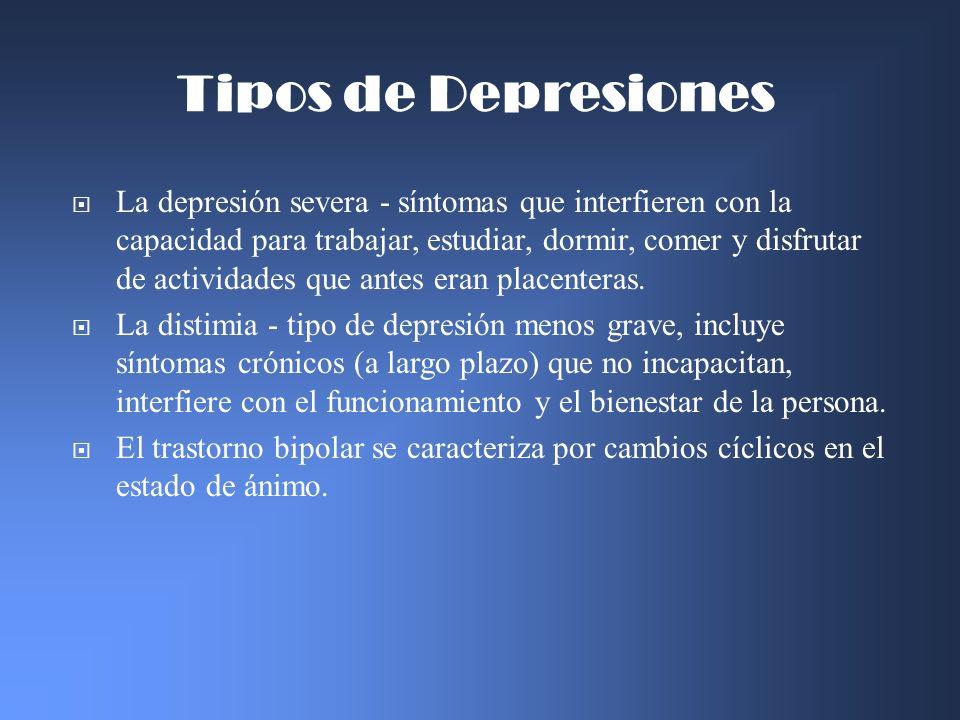 Tipos de Depresiones