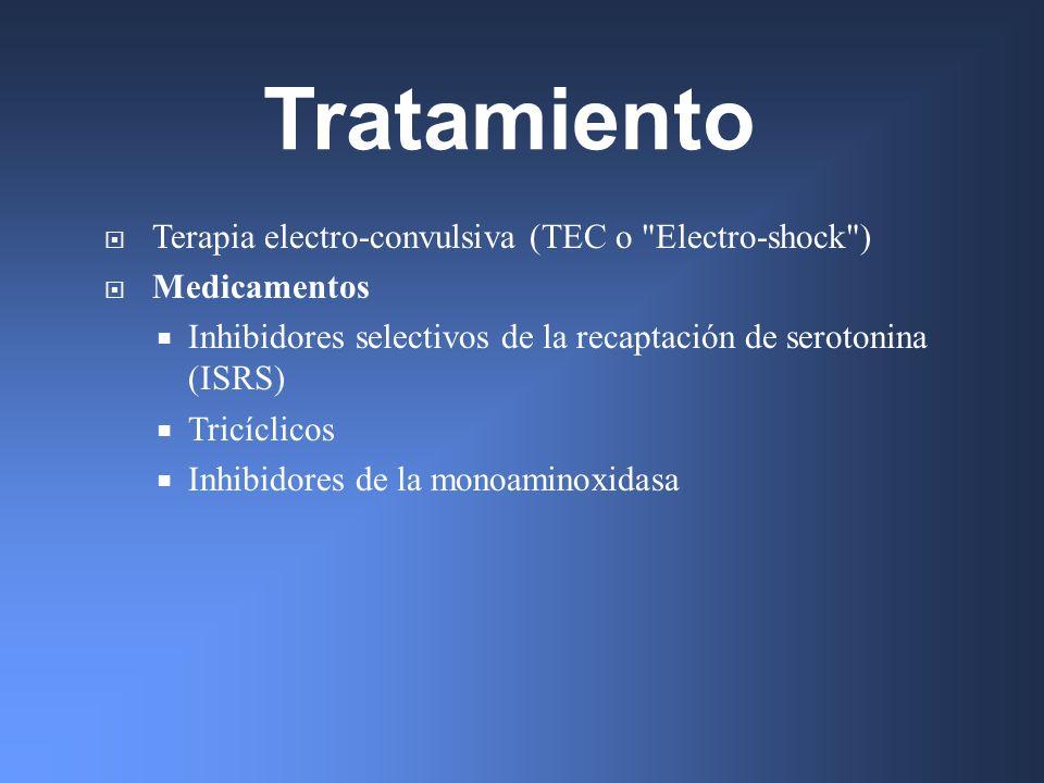Tratamiento Terapia electro-convulsiva (TEC o Electro-shock )