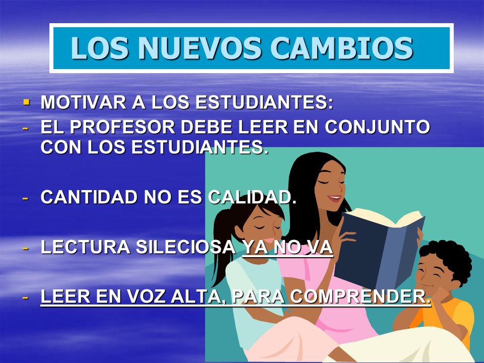 LOS NUEVOS CAMBIOS MOTIVAR A LOS ESTUDIANTES: