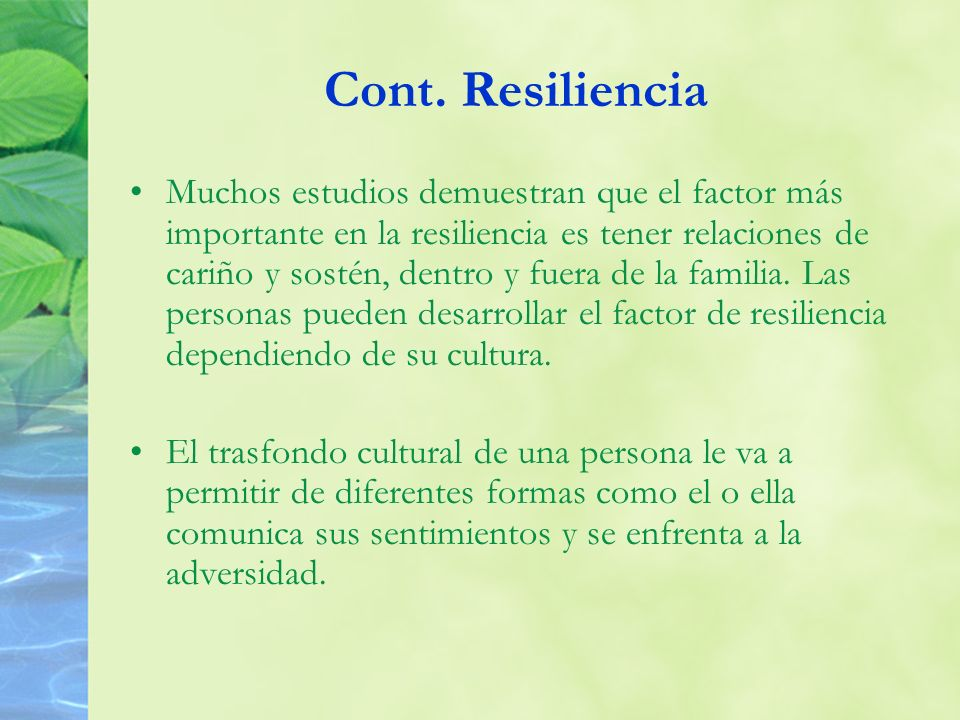 Cont. Resiliencia