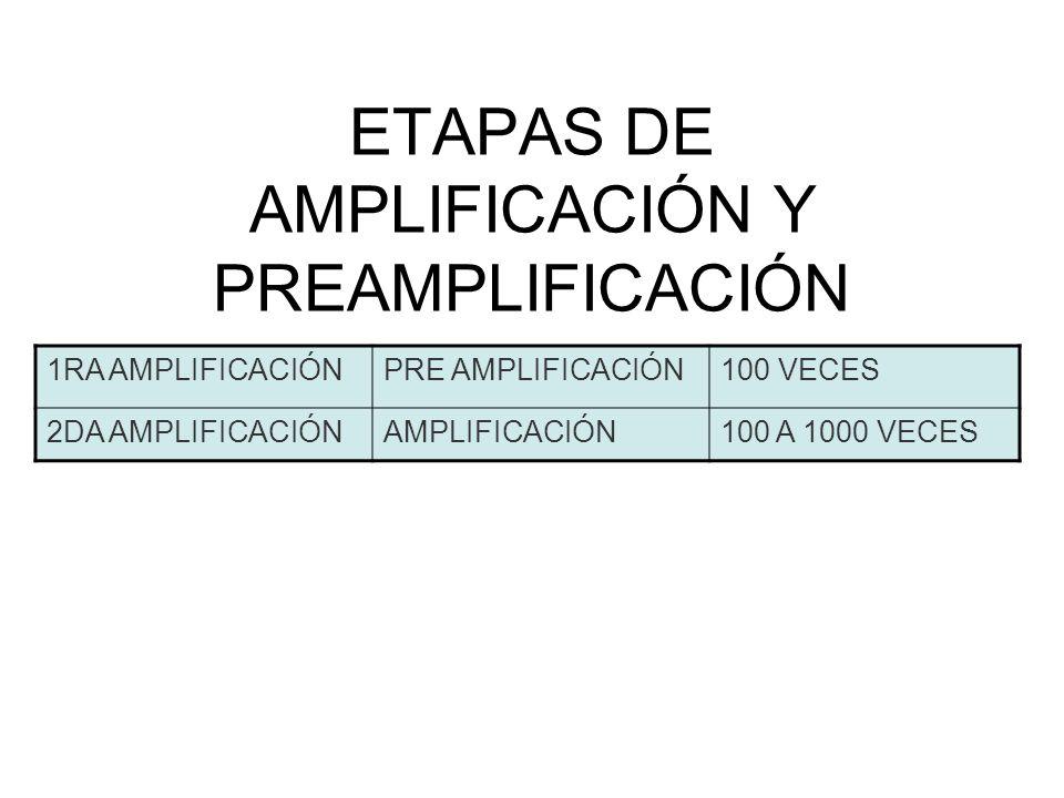 ETAPAS DE AMPLIFICACIÓN Y PREAMPLIFICACIÓN