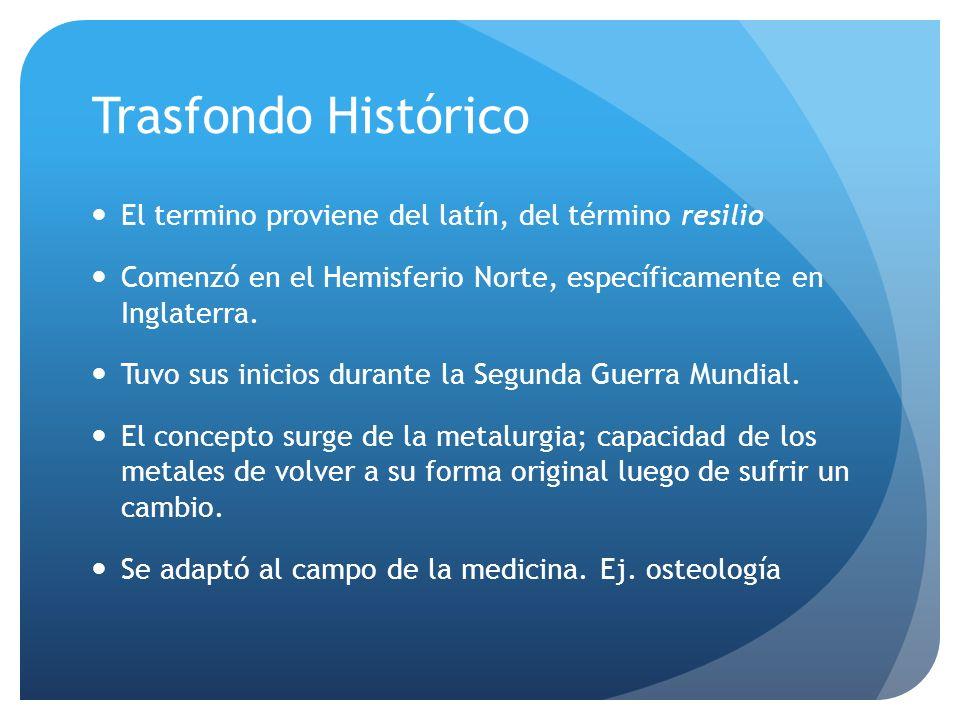 Trasfondo Histórico El termino proviene del latín, del término resilio