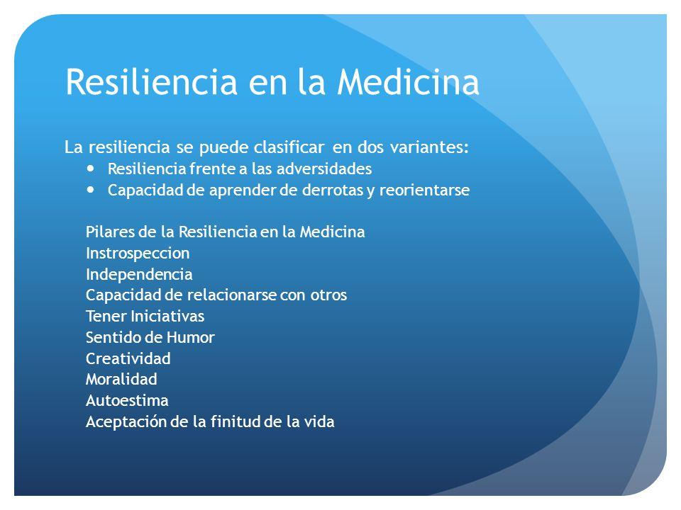 Resiliencia en la Medicina
